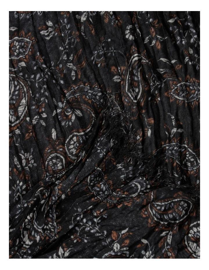 Printed Brown Crinkle Scarf image 3