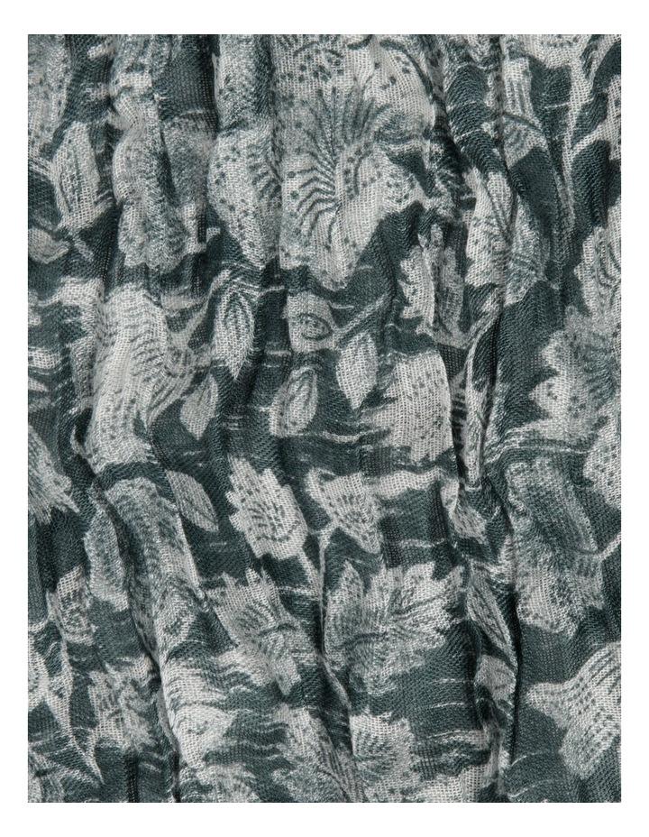 Printed Crinkle Green Scarf image 3