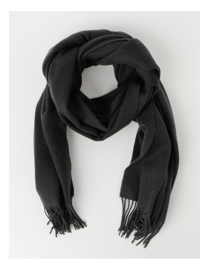 Charcoal Winter Scarf with Tassel Fringe image 1