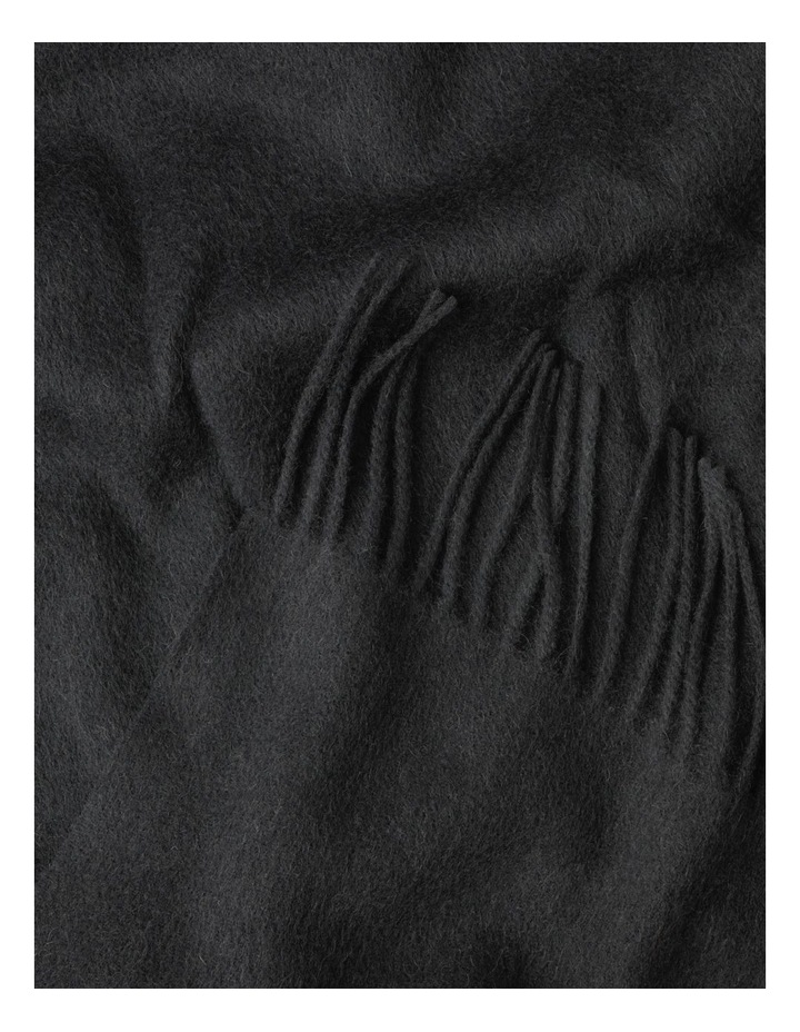 Charcoal Winter Scarf with Tassel Fringe image 3