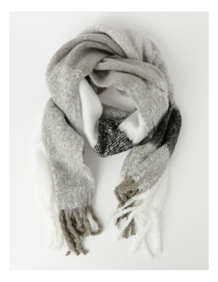 Fluffy Oversized Check Winter Scarf image 1