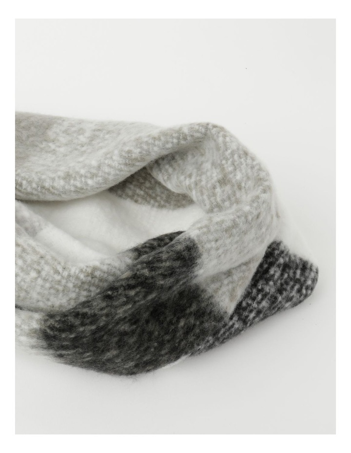 Fluffy Oversized Check Winter Scarf image 2