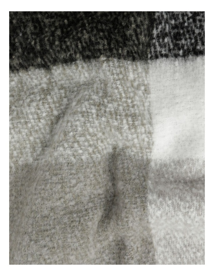 Fluffy Oversized Check Winter Scarf image 4