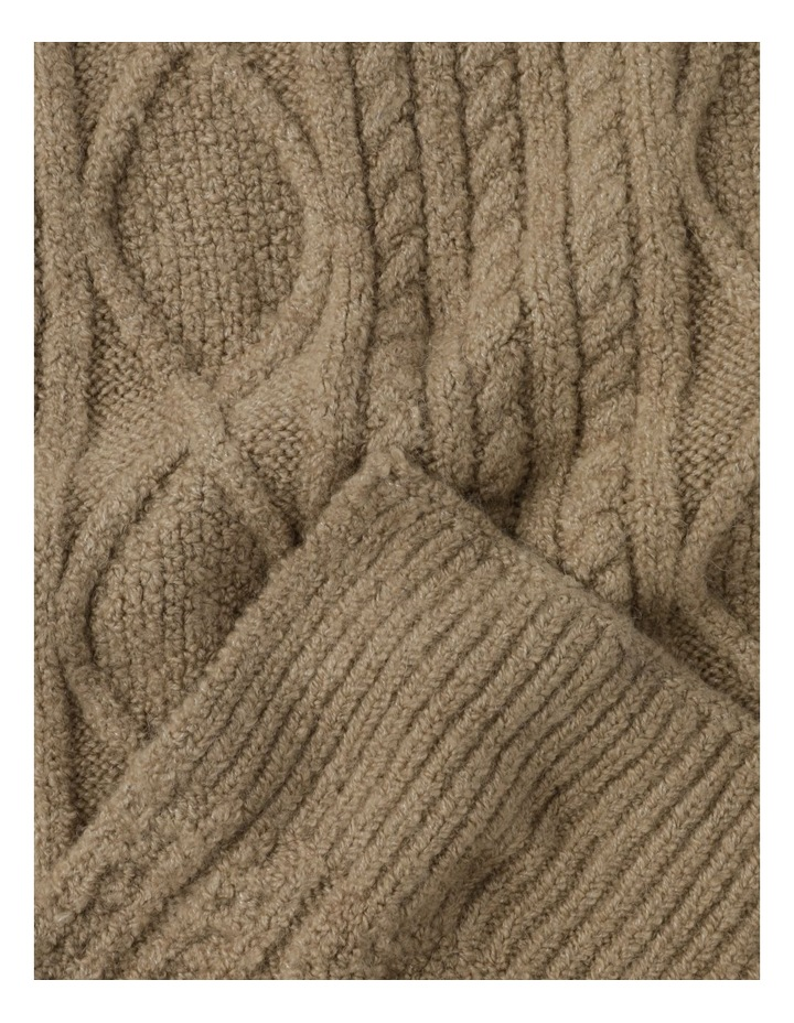 Cable Knit Scarf Winter Scarf image 3