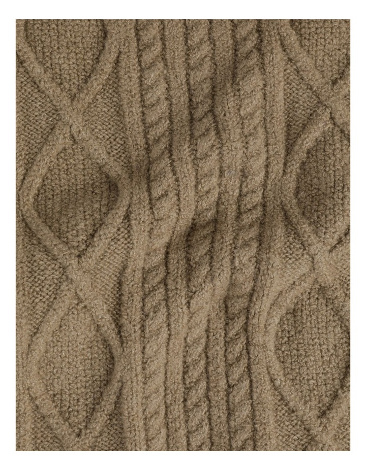 Cable Knit Scarf Winter Scarf image 4