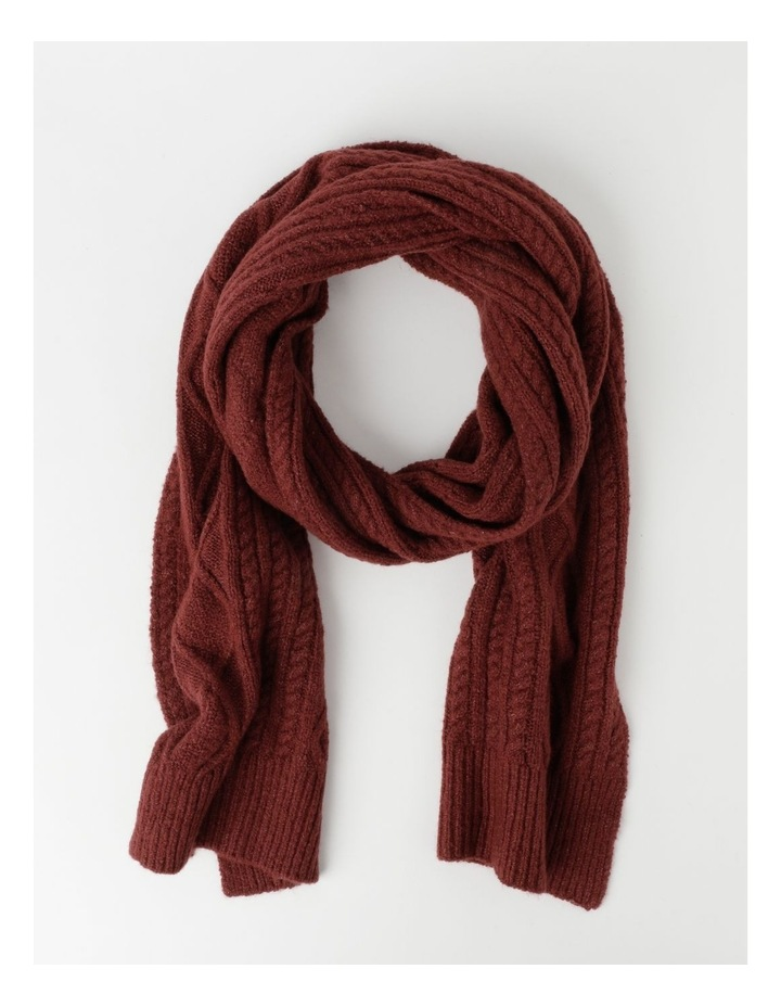 Cable Knit Scarf Winter Scarf image 1