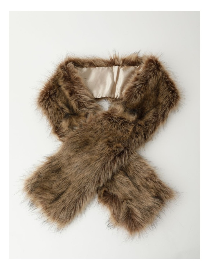 Faux Fur Brown Stole image 1