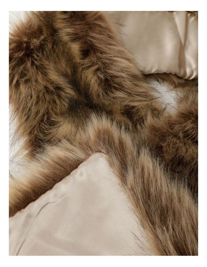 Faux Fur Brown Stole image 2