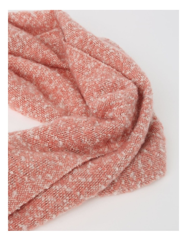Boucle With Contrast Tassel Winter Scarf image 2