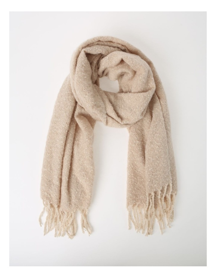 Boucle With Contrast Tassel Winter Scarf image 1