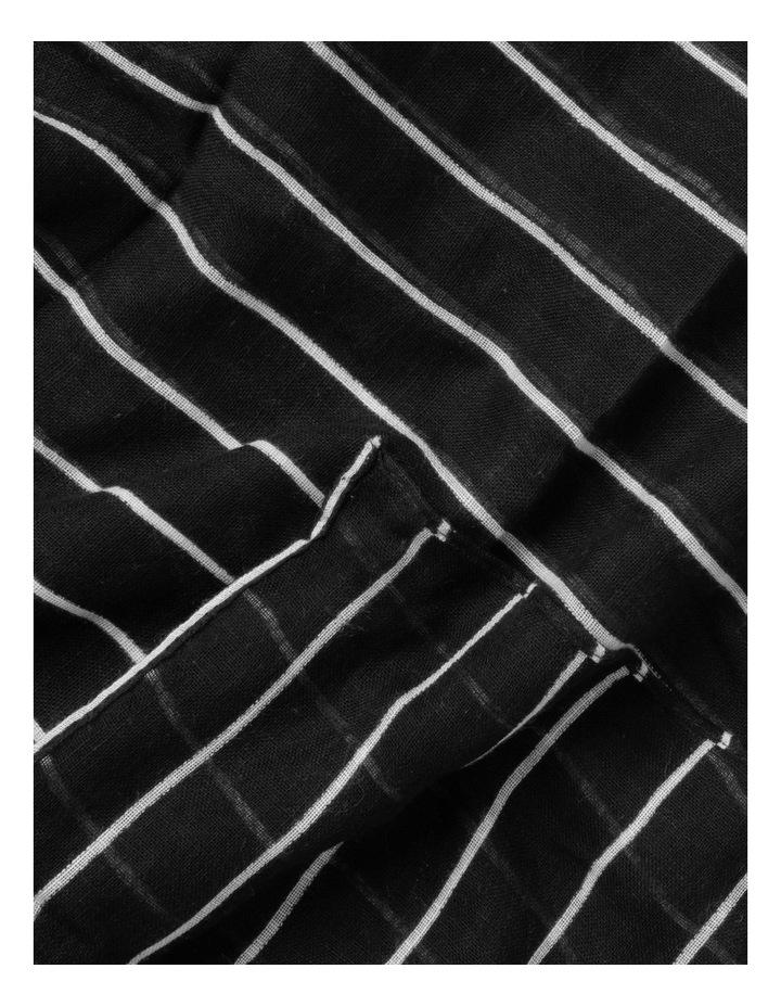 Thin Stripe Black Cotton Scarf image 3