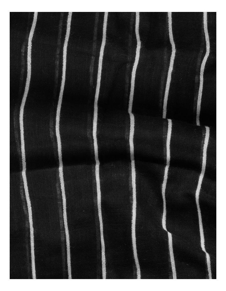 Thin Stripe Black Cotton Scarf image 4