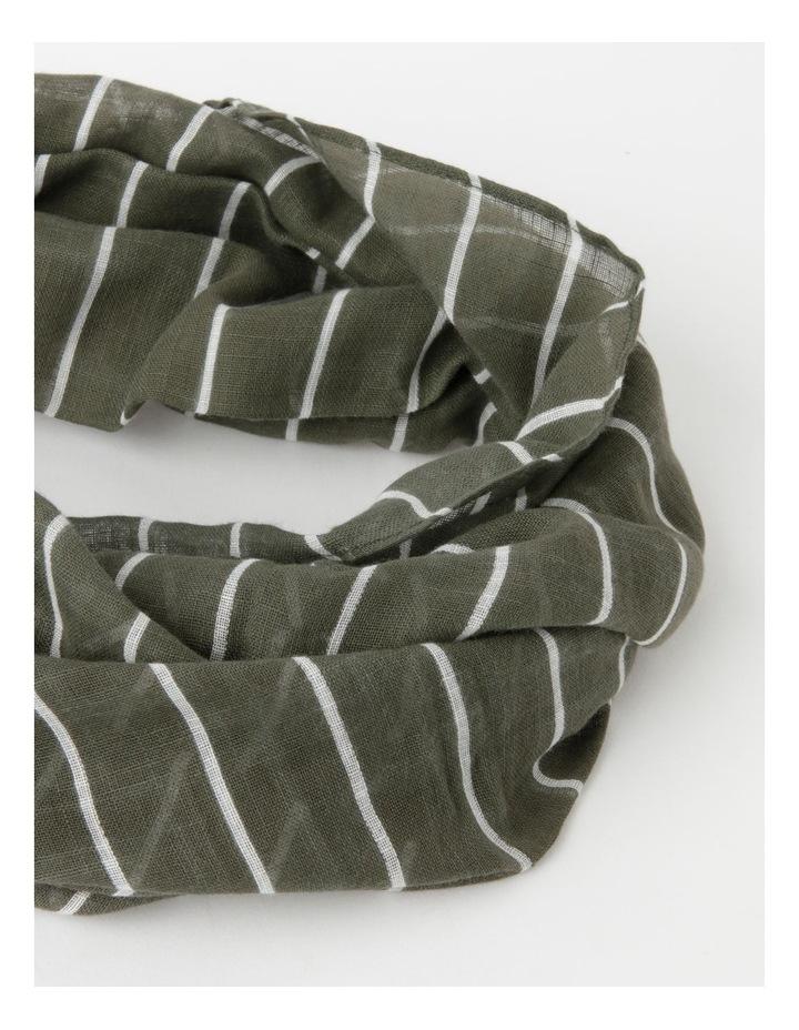 Thin Stripe Green Cotton Scarf image 2