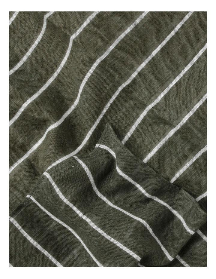 Thin Stripe Green Cotton Scarf image 3