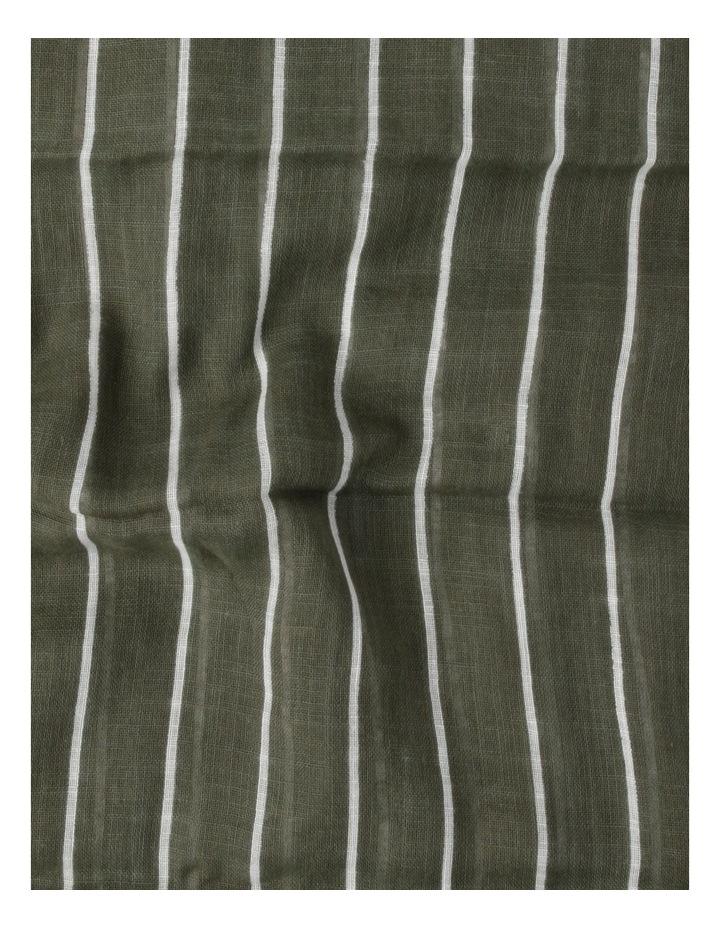 Thin Stripe Green Cotton Scarf image 4