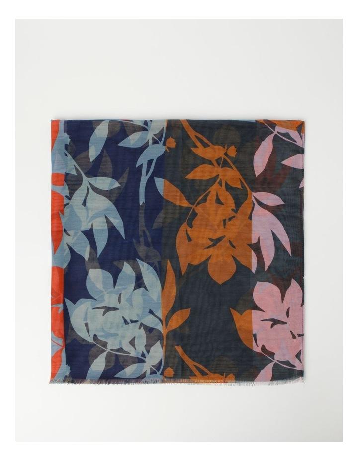 Floral Print Black Scarf image 3
