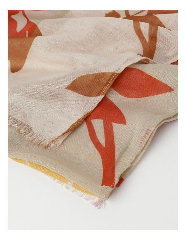 Floral Print Cream Scarf image 4