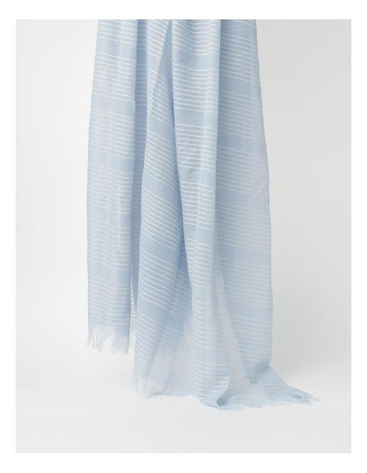 Stripe Blue Scarf image 3
