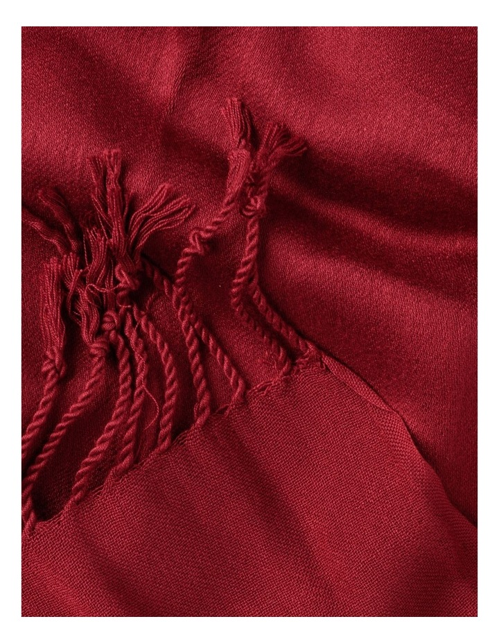 Pashminetta Burgundy Scarf With Tassel image 3