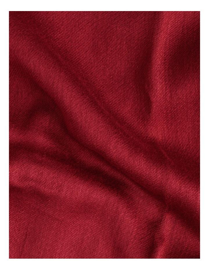 Pashminetta Burgundy Scarf With Tassel image 4