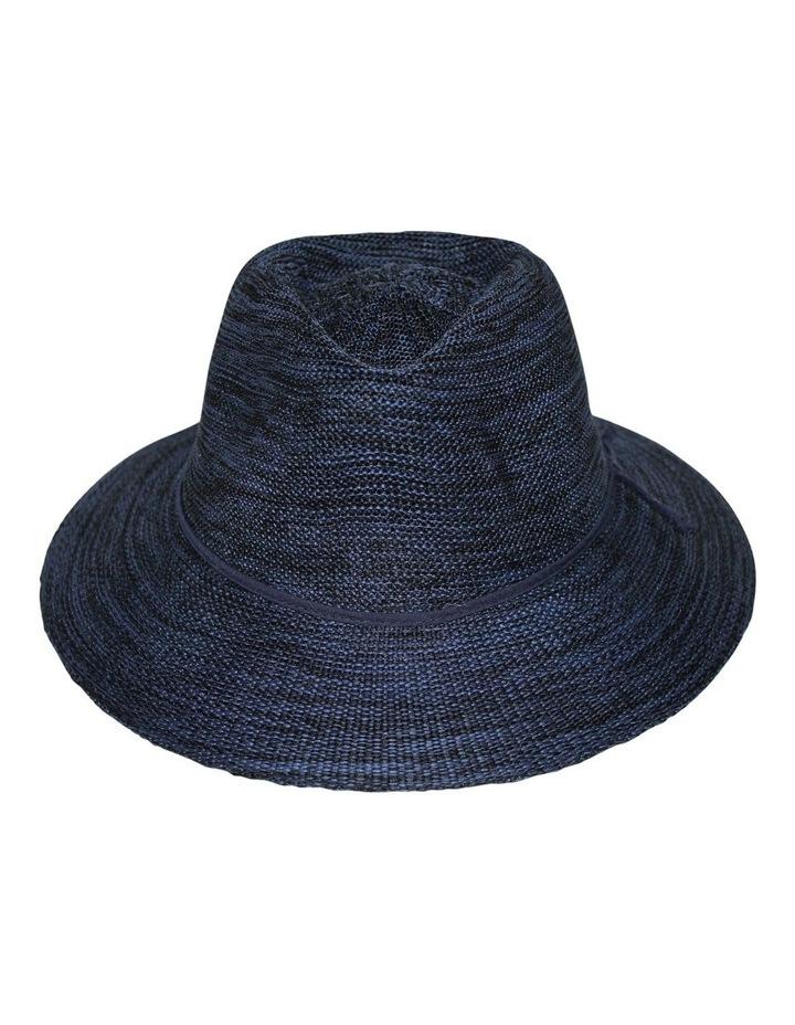 Rigon Wash & Wear Fedora Mixed Navy RL73 Hat image 1