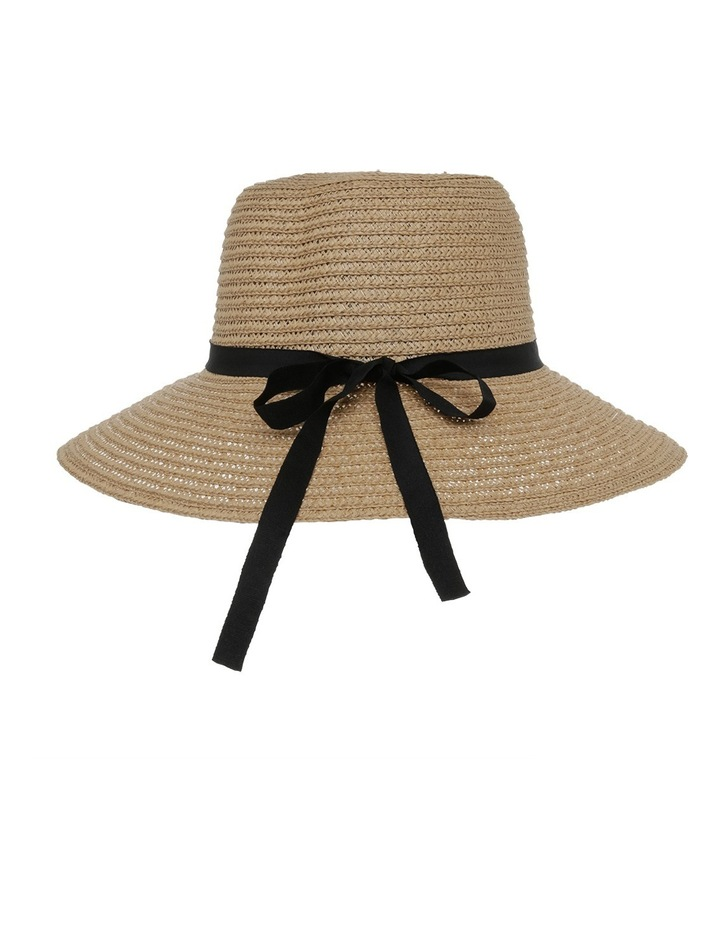 Classic Style Sun Hat W Narrow Band Bow And Tails image 3