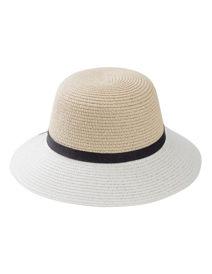 Classic Style Sun Hat W Narrow Band, Bow And Tails image 1