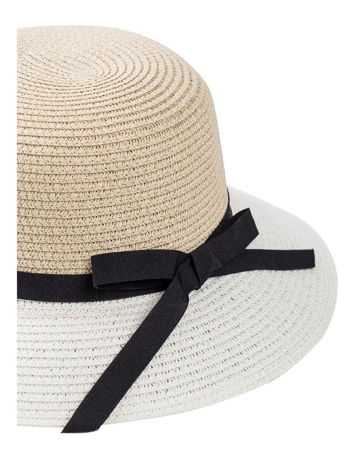 Classic Style Sun Hat W Narrow Band, Bow And Tails image 2