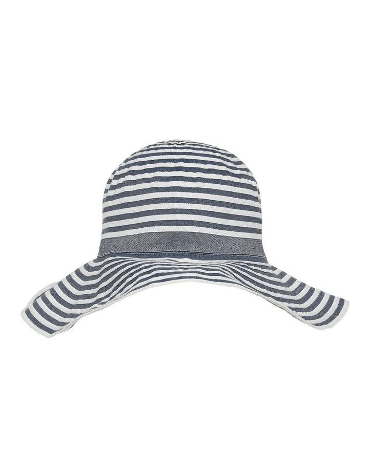 Tow Tone Ribbon Hat W Wide Brim image 1