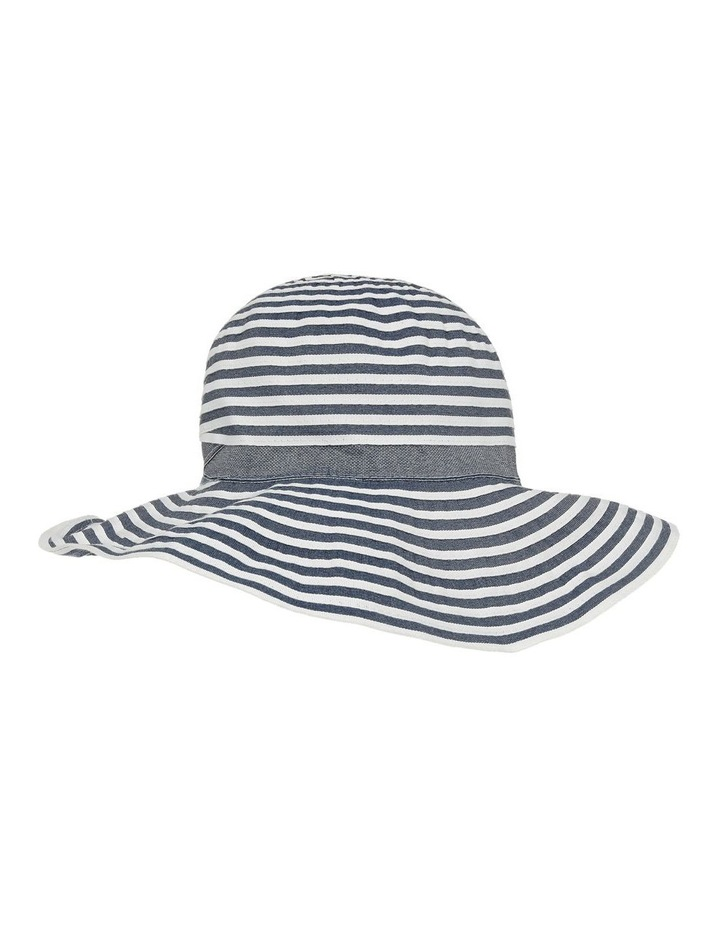 Tow Tone Ribbon Hat W Wide Brim image 2