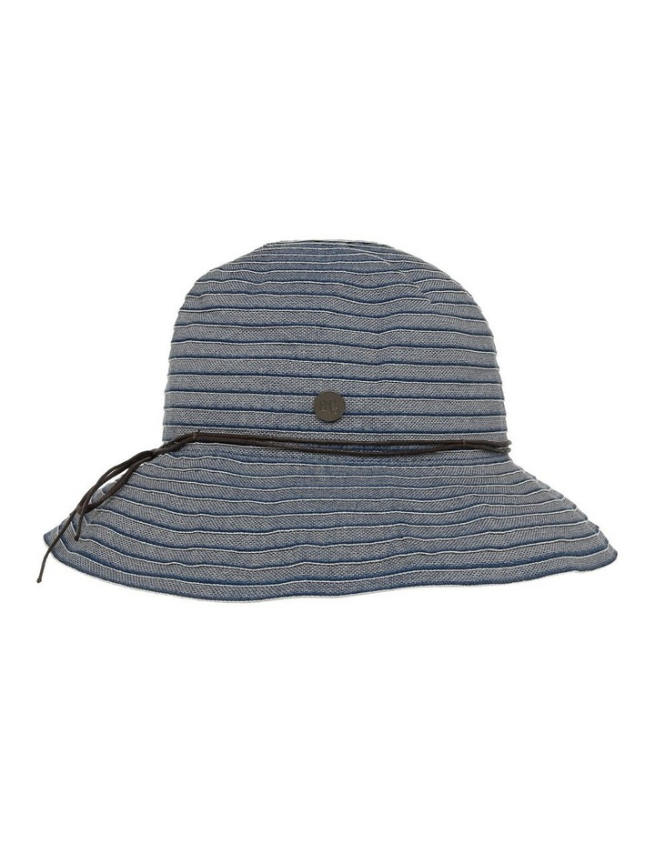 Tonal Denim Hat With Fine Leather Band image 2