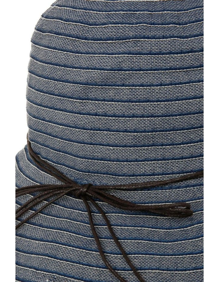 Tonal Denim Hat With Fine Leather Band image 3