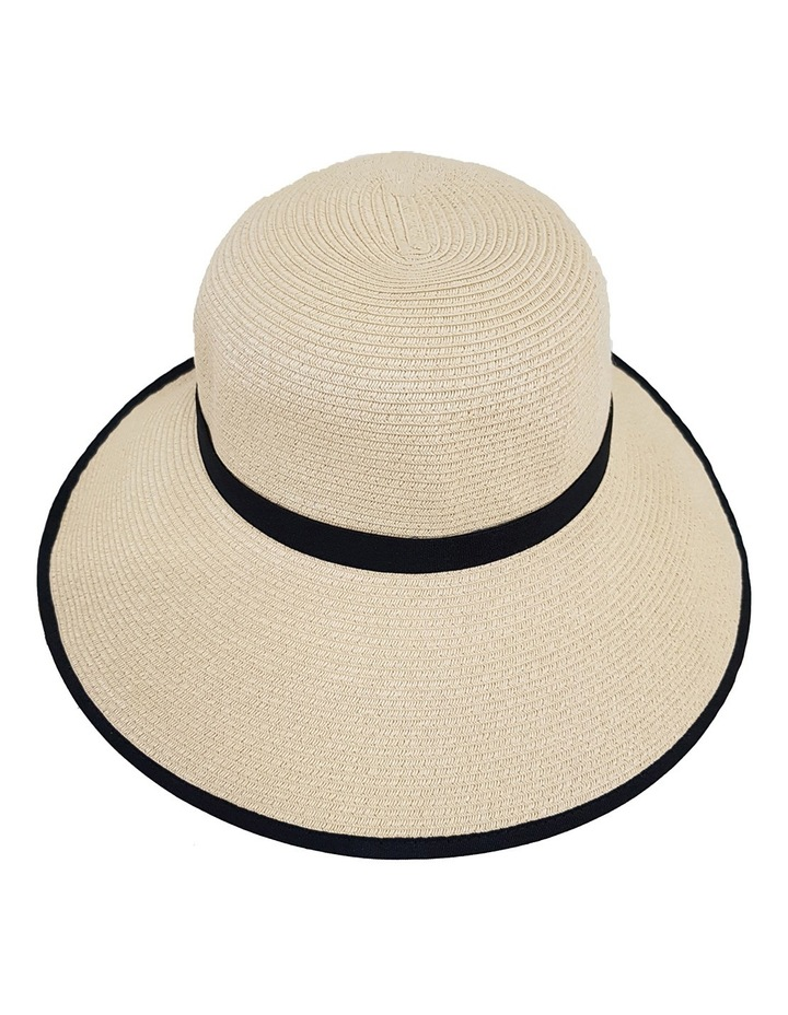 3-7209 Cream Black (Sally Bucket Hat) image 2