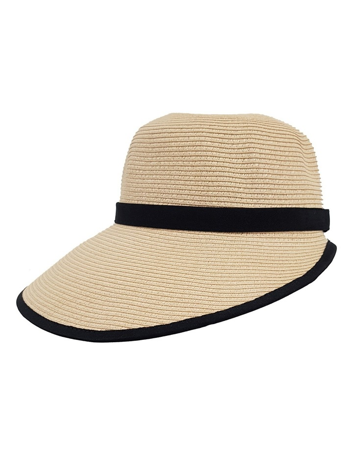 3-7209 Cream Black (Sally Bucket Hat) image 3