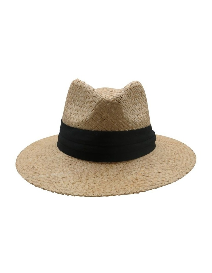 Straw Fedora With Black Band Summer Hats image 1