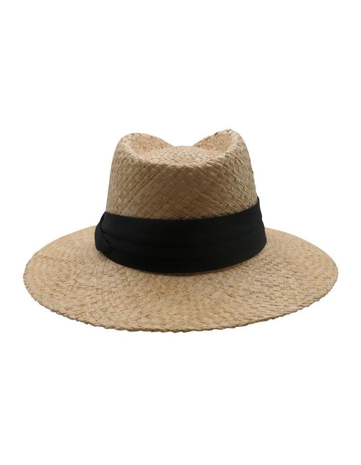 Straw Fedora With Black Band Summer Hats image 2