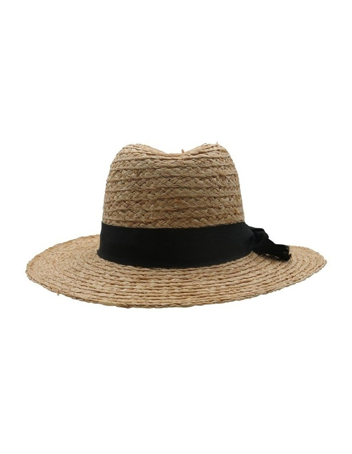 Raffia Fedora With Black Band  Summer Hats image 2