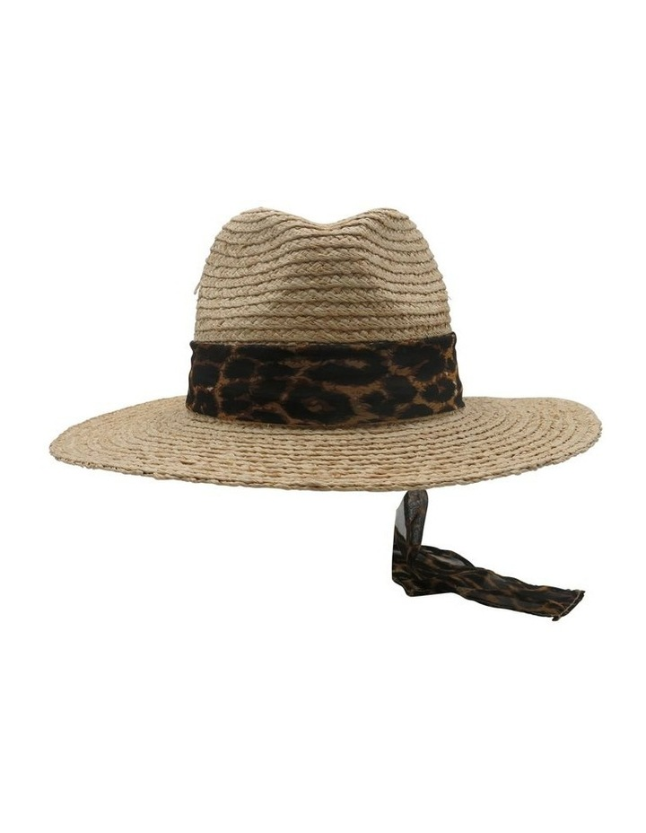 Raffia Fedora With Leopard Band  Summer Hats image 1