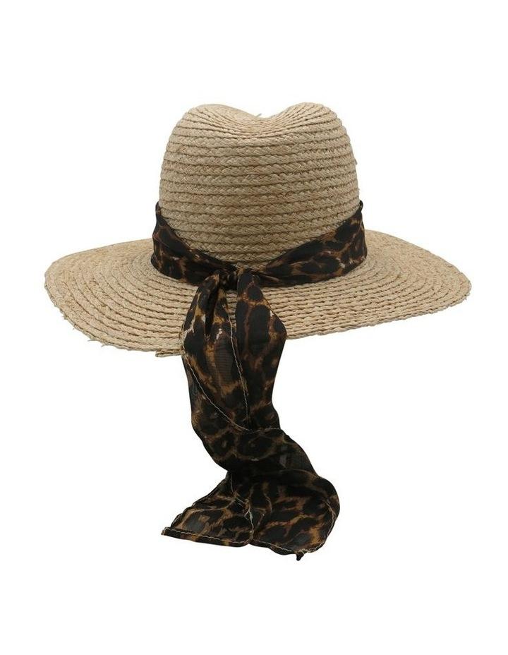 Raffia Fedora With Leopard Band  Summer Hats image 2