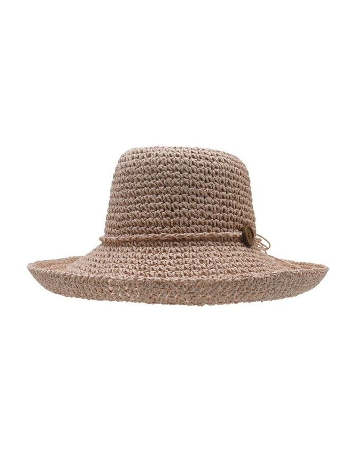 Turn Up Hat With Button Trim  Summer Hats image 1