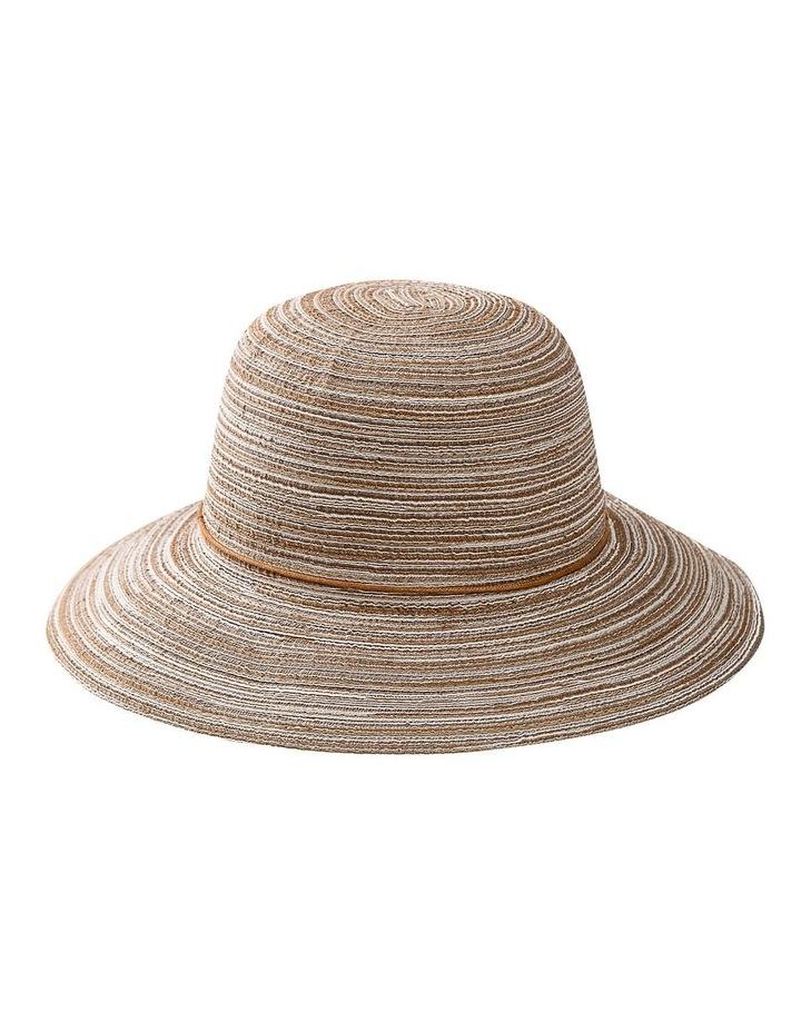 Melange Summer Bucket Hat With Tie image 1