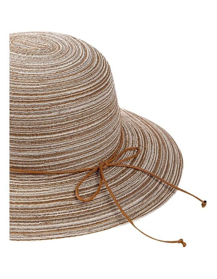 Melange Summer Bucket Hat With Tie image 2