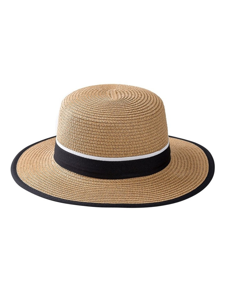 Boater Hat With Two Tone Trim Summer Hats image 1
