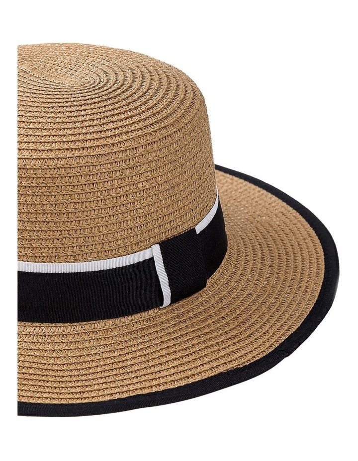 Boater Hat With Two Tone Trim Summer Hats image 2