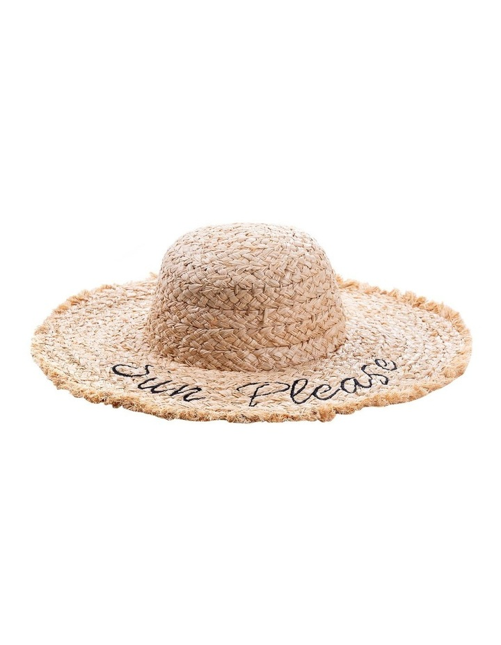 Sun Please Raffia Wide Brim  Hat Summer Hats image 1
