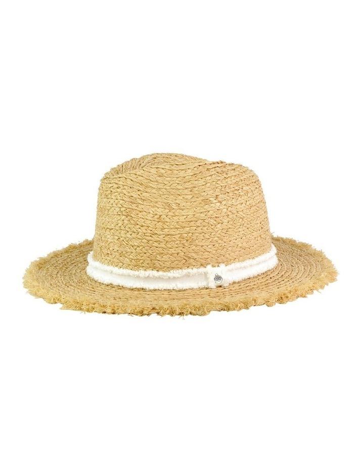 Elle Frayed Edge Straw Hat image 1