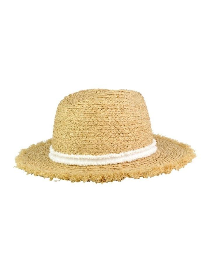 Elle Frayed Edge Straw Hat image 2
