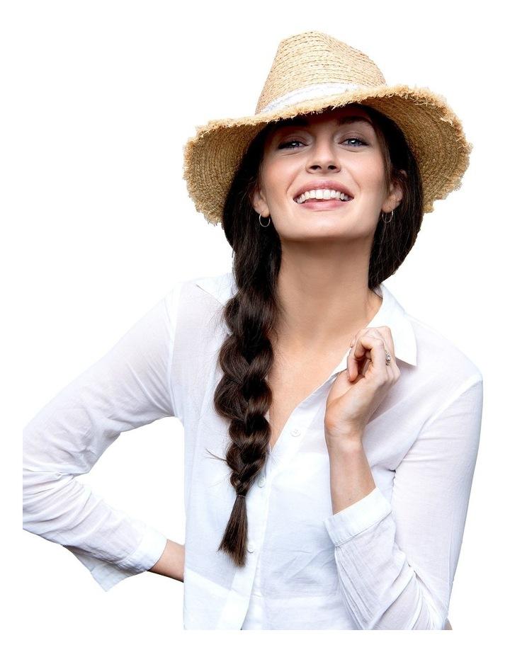 Elle Frayed Edge Straw Hat image 3