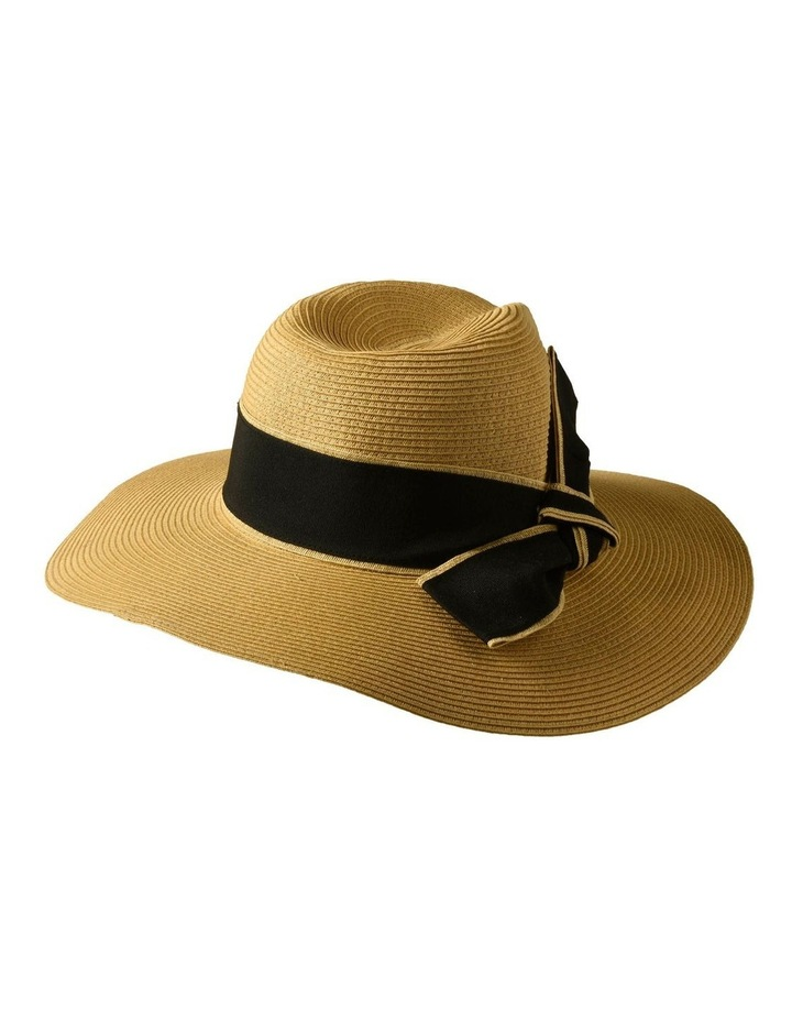 3-7907 Natural Black Sun Hat With Bow image 4