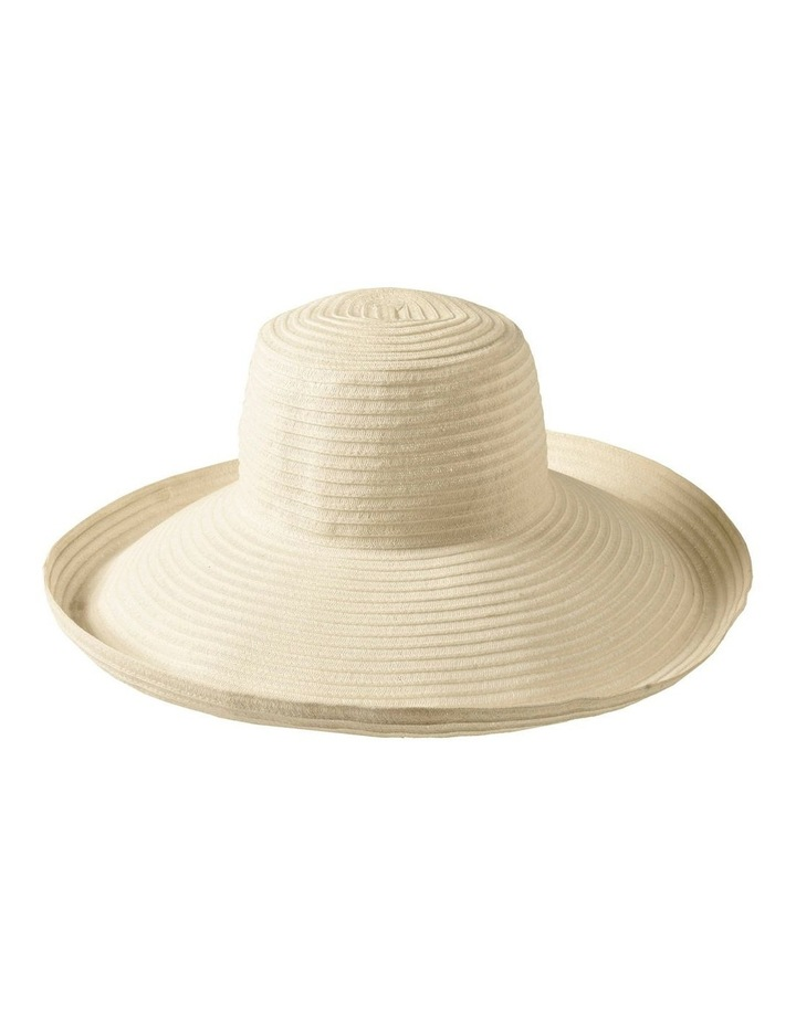 3-7909 White Turn Up Sun Hat image 1